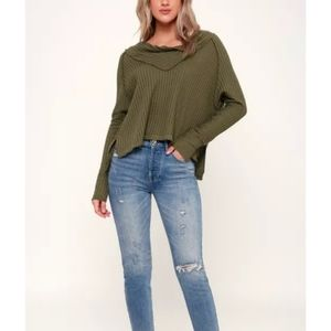 Free People Wildcat Thermal in Moss